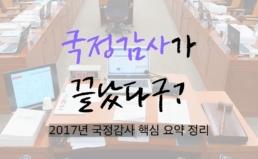 2017년 국정감사 핵심 요약 정리