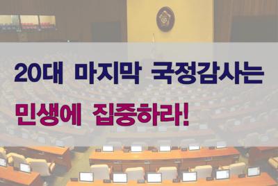 [성명]20대 마지막 국정감사는 민생에 집중하라