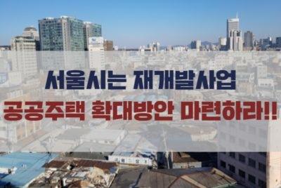 [성명] 서울시는 재개발사업 공공주택 확대방안 마련하라