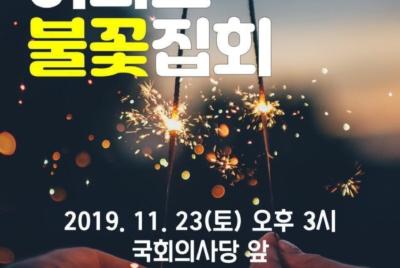 """[시민참여안내] """"지금당장 정치개혁"""" 2019 여의도 불꽃집회"""