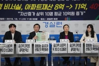 [기자회견] 청와대 고위공직자 부동산 자산분석