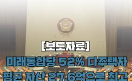 [보도자료] 20대 의원 중 무주택자 9%, 다주택자 41%