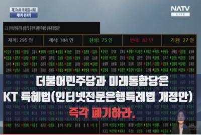 [공동성명] 더불어민주당과 미래통합당은 KT 특혜법 즉각 폐기하라