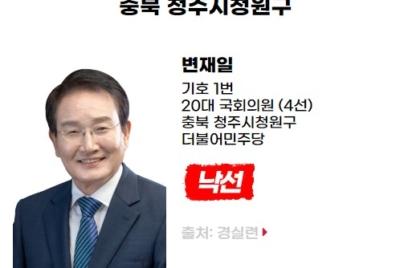 [친재벌법안 발의] 낙선 대상자 변재일(충북 청주시청원구, 더불어민주당)