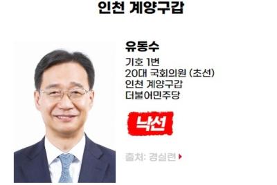 [친재벌법안 발의] 낙선 대상자 유동수(인천시 계양구갑, 더불어민주당)