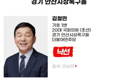 [반개혁과 친재벌] 낙선 대상자 김철민(경기 안산시상록구을, 더불어민주당)