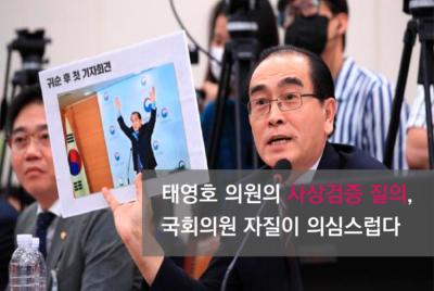 [성명] 태영호 의원의 사상검증 질의, 국회의원 자질이 의심스럽다