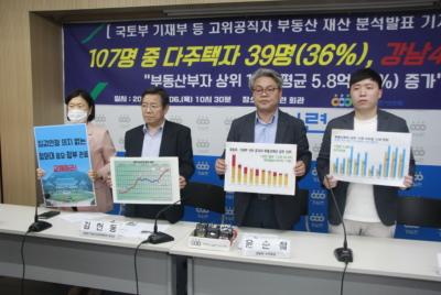 [기자회견]부동산정책 수립 고위공직자 부동산 분석