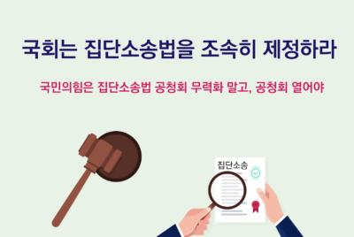 [성명] 국회는 집단소송법을 조속히 제정하라