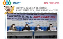 [2021-7호] 2021년 공시지가 시세반영률은 31%, 정부 발표 68%는 거짓!