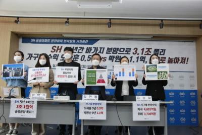 [기자회견] SH 공공아파트 분양이익 분석발표 기자회견