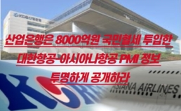 [성명] 산업은행은 8000억원 국민혈세 투입한 대한항공-아시아나항공 PMI 정보 투명하게 공개하라