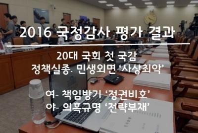 2016년 국정감사 평가 결과