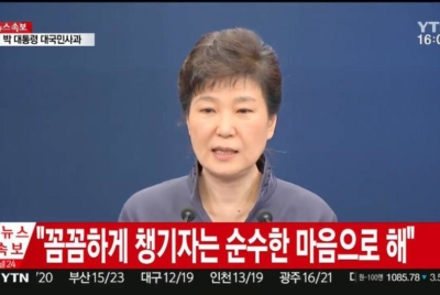 박근혜 대통령 대국민사과에 대한 논평