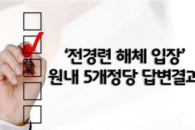 원내 5개 정당에 '전경련 해체'에 대한 공개질의 결과 발표