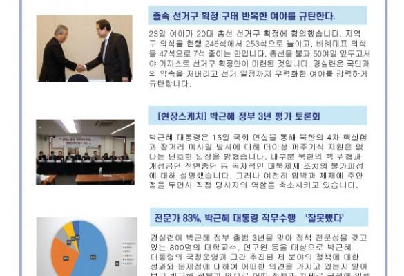 [2016-08] 박근혜 대통령 집권 4년차, 대선공약 완전이행률 41%로 과반도 못 미쳐