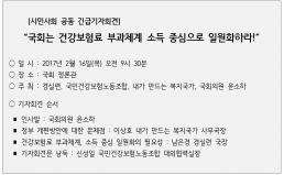 [2/16] 건강보험 부과체계 관련 긴급 기자회견 개최
